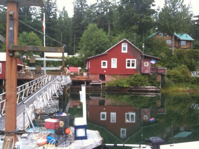 fishing, lodge, dock, wharf